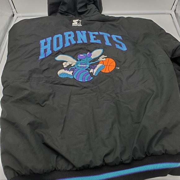 STARTER Other - Vintage Starter Jacket Charlotte Hornets Puffy Coa